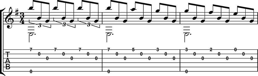 Romance Anónimo partitura + tab primera parte. Tutoriales de guitarra.