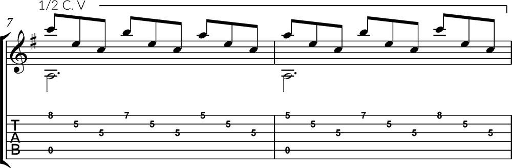 Romance Anónimo partitura + tablatura primera parte. Tutoriales de guitarra.