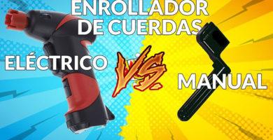 Enrrollador de cuerdas eléctrico versus manual