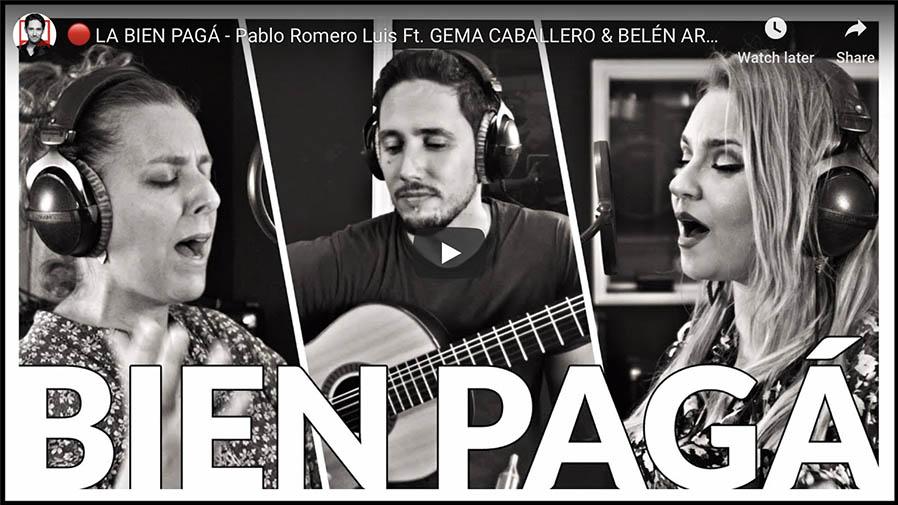 """Vídeo del tema """"La Bien Pagá"""" del disco Desnudas de Palabras de Pablo Romero Luis"""