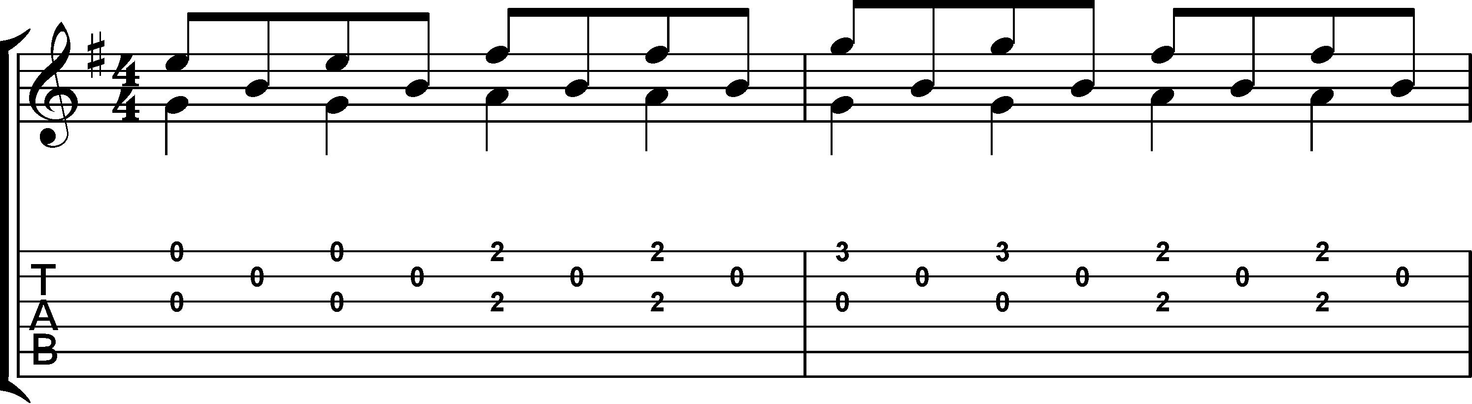 Andandino para guitarra partitura + tablatura 1