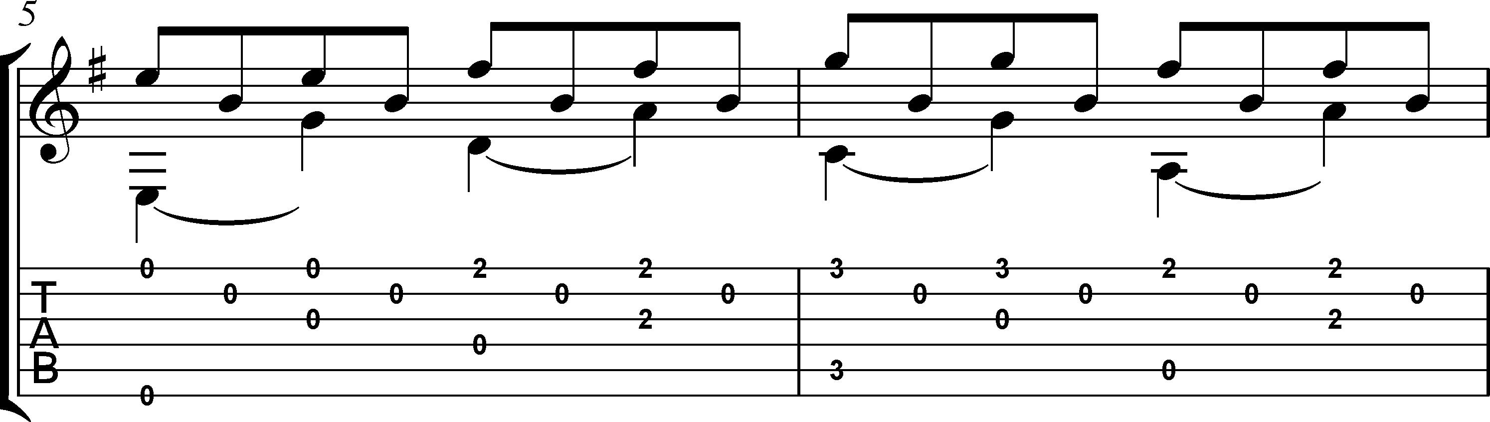 Andandino para guitarra partitura + tablatura 3
