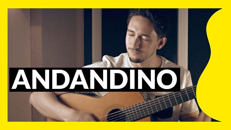 Miniatura del tutorial de Andandino pieza para guitarra