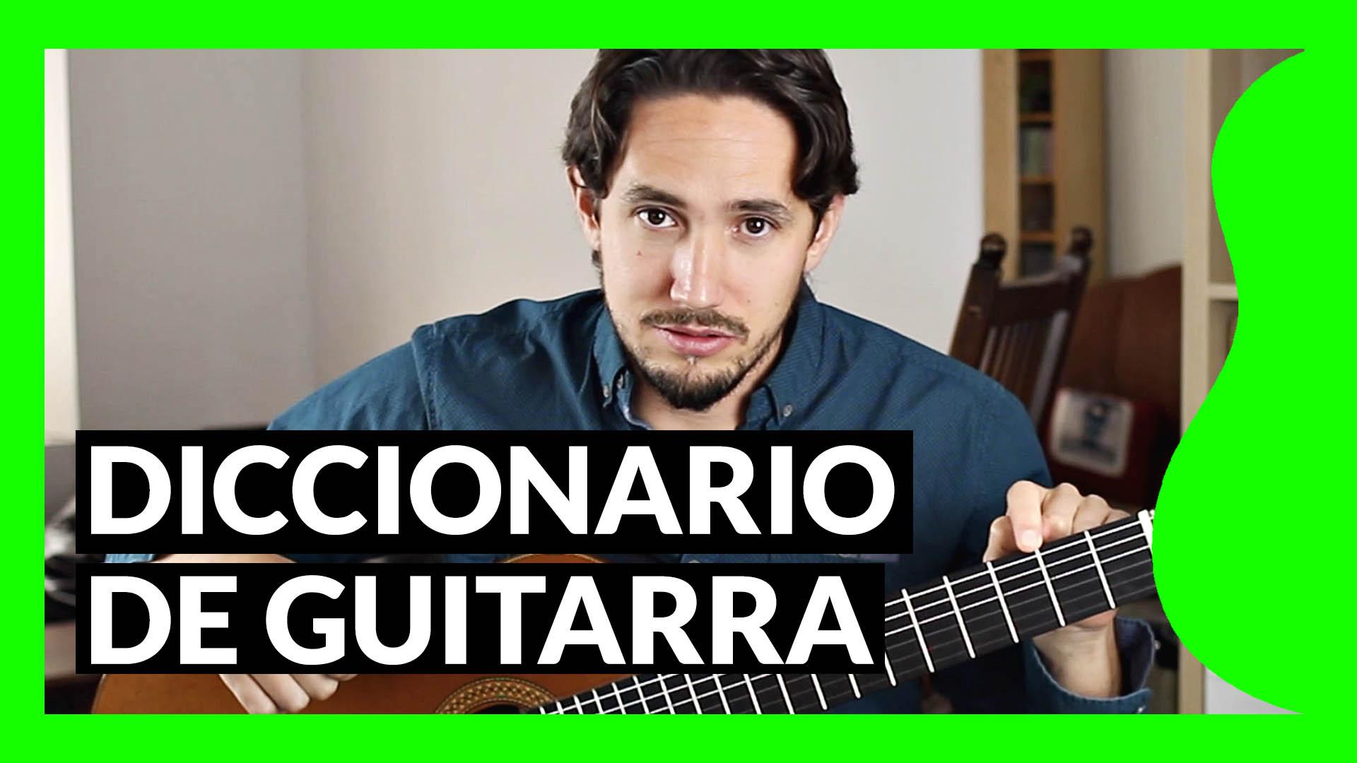 Diccionario de guitarra en el blog de Pablo Romero Luis