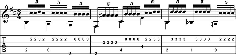 Fuente y Caudal trémolo de guitarra flamenca