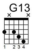 Sol con trecena G13. Acorde de jazz.
