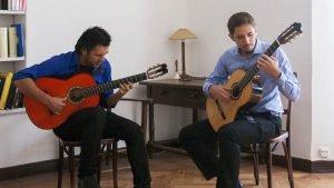 A dos guitarras. Fernando de la Rua y Pablo Romero Luis