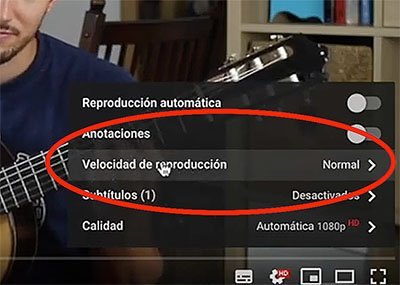 Modificar la VELOCIDAD de los vídeos en YouTube.
