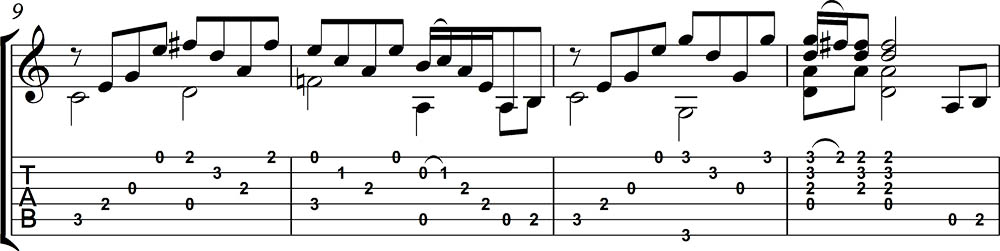 Partitura y tablatura de Stairway to heaven 3