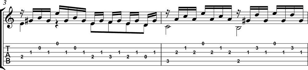 Partitura de la mariposa nº13 de Giuliani para guitarra. Tutorial de Pablo Romero Luis. a