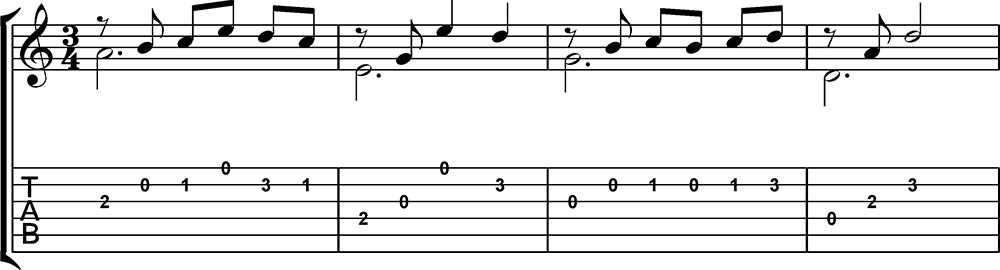 Lo mejor contra el estrés partitura didáctica de guitarra 1