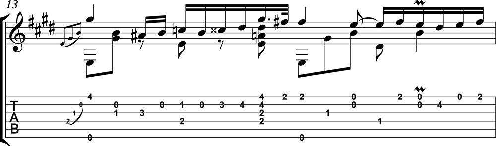 Nocturno 2 op9 de chopin para guitarra. Guitarristas del futuro. partitura 2/7