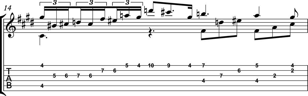 Nocturno 2 op9 de chopin para guitarra. Guitarristas del futuro. partitura 3/7