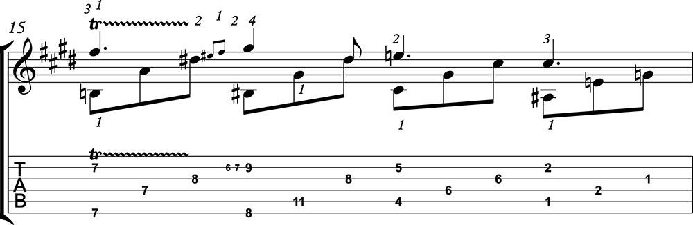 Nocturno 2 op9 de chopin para guitarra. Guitarristas del futuro. partitura 4/7