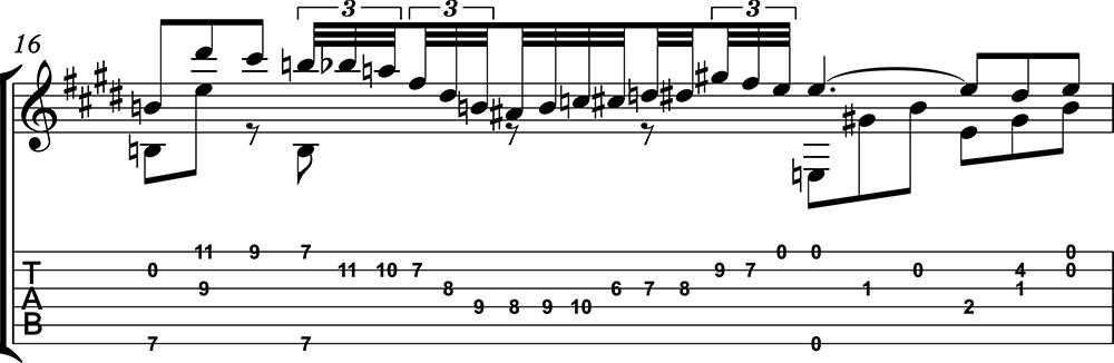 Nocturno 2 op9 de chopin para guitarra. Guitarristas del futuro. partitura 5/7
