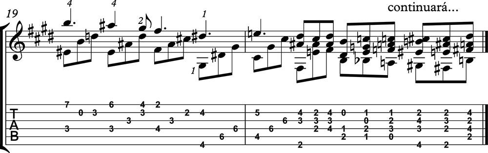 Nocturno 2 op9 de chopin para guitarra. Guitarristas del futuro. partitura 7/7