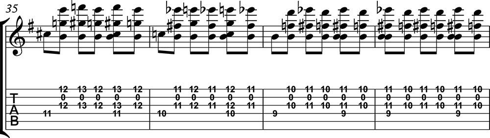 Imagen de la partitura de preludio 1 de villalbos clase 2 de guitarristas del futuro. b
