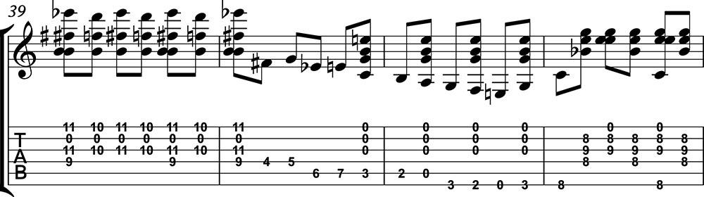 Imagen de la partitura de preludio 1 de villalbos clase 2 de guitarristas del futuro. c