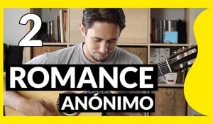 Miniatura de Romance Anónimo para guitarra partitura y tablatura