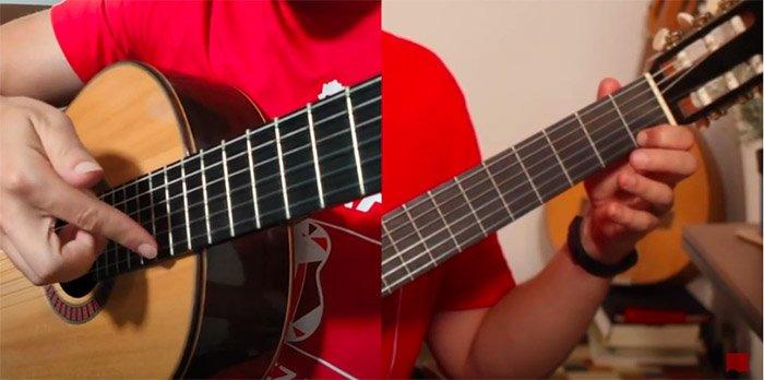 Armónicos artificiales en guitarra cómo se tocan. Distintas vistas.