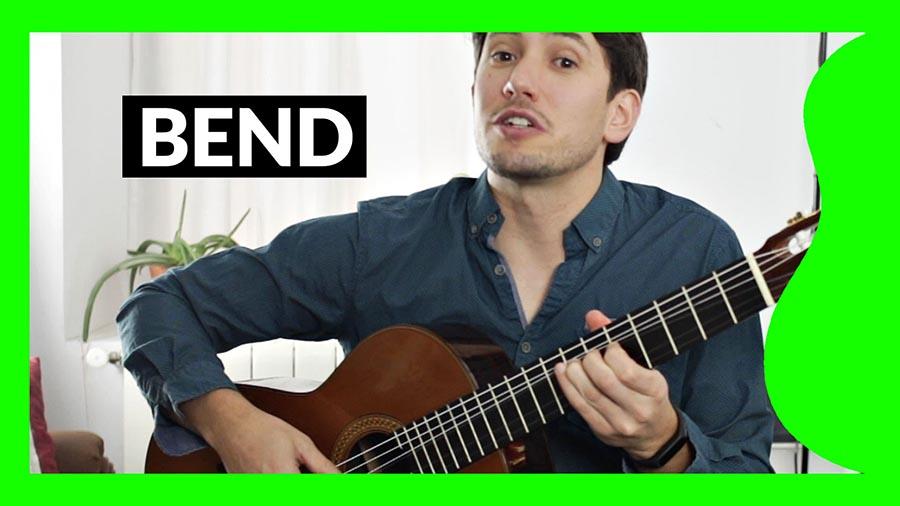 ¿Qué es un bend en guitarra?