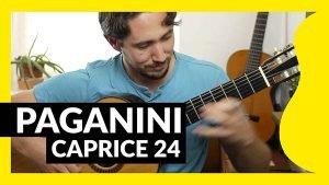 Caprice 24 paganini para guitarra. Tutorial