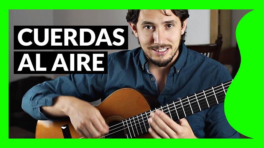 Cuerdas al aire ¿qué significa eso en guitarra?