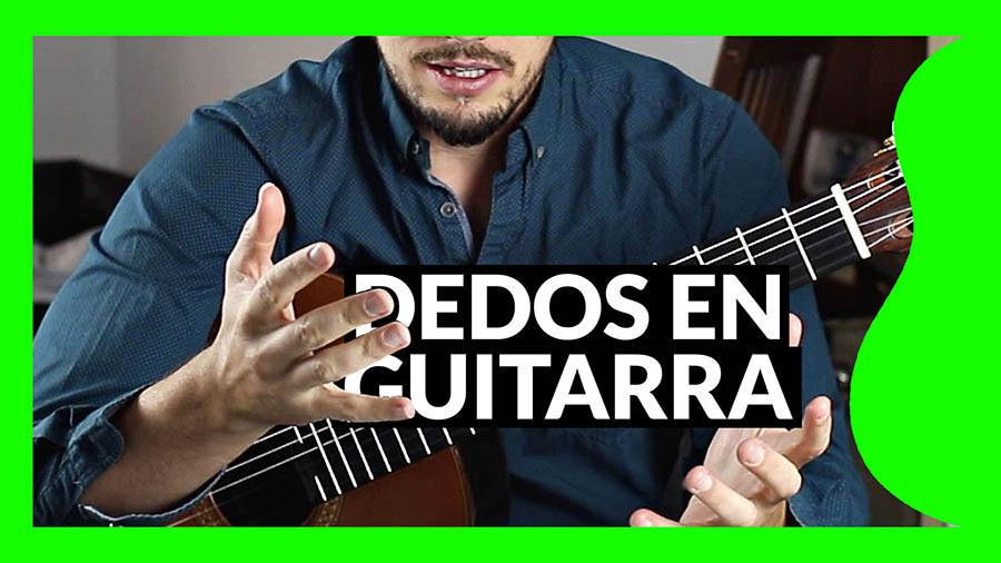 Cómo se llaman los dedos en guitarra