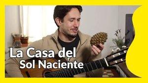 house rising sun guitarra