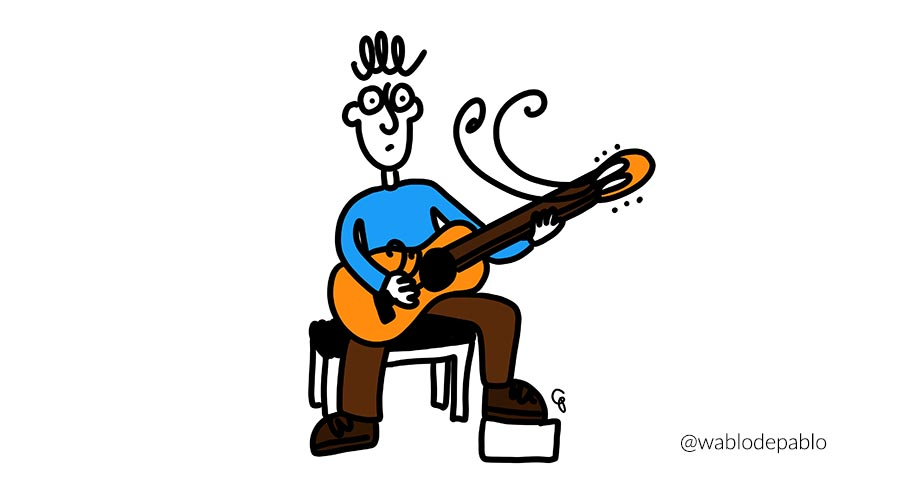 Wablo de Pablo para la newsletter mensual de Guitarristas del futuro