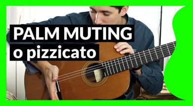 Palm Muting o pizzicato en guitarra