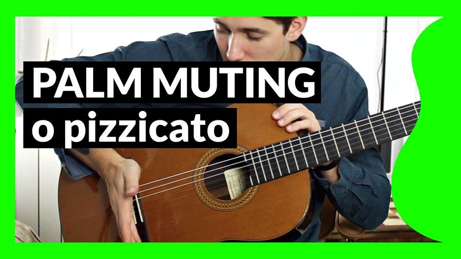 Palm Muting o pizzicato en guitarra