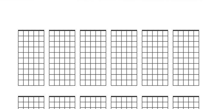 Plantilla para apuntar escalas de guitarra para imprimir