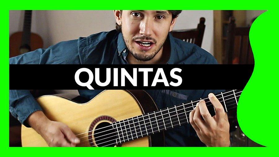 quintas en guitarra