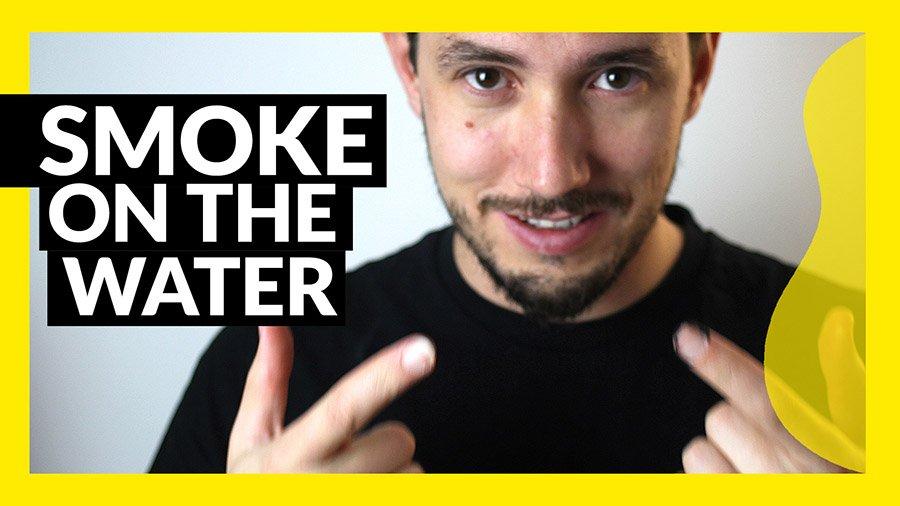 Smoke on the Water tutorial fácil de guitarra
