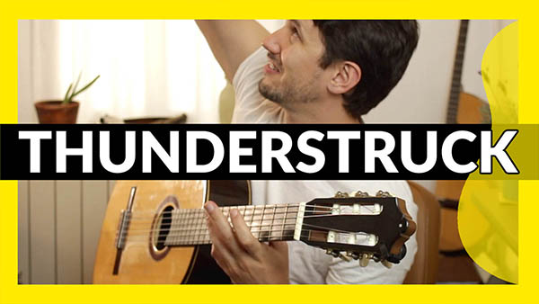 Tocar Thunderstruck en guitarra fácil