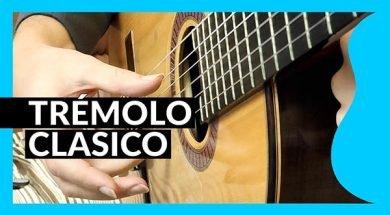 Trémolo clásico en guitarra